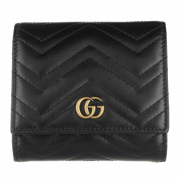 Geldbörse, Gucci, GG Marmont Wallet Black