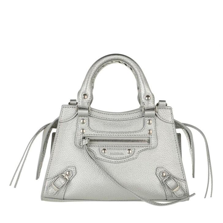 bags, Balenciaga, Neo Classic Mini Top Handle Bag Leather Silver