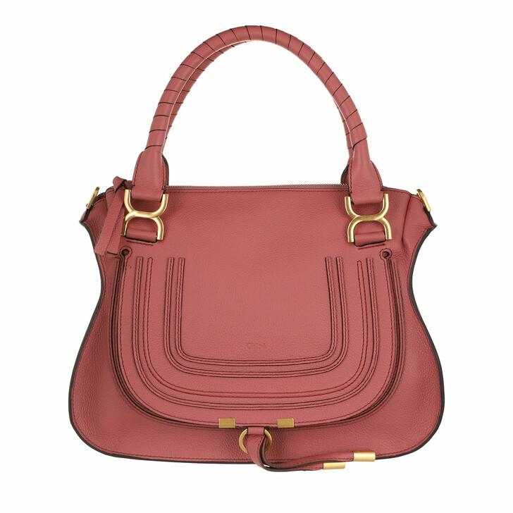 bags, Chloé, Marcie Handbag Grained Calfskin Leather Faded Rose