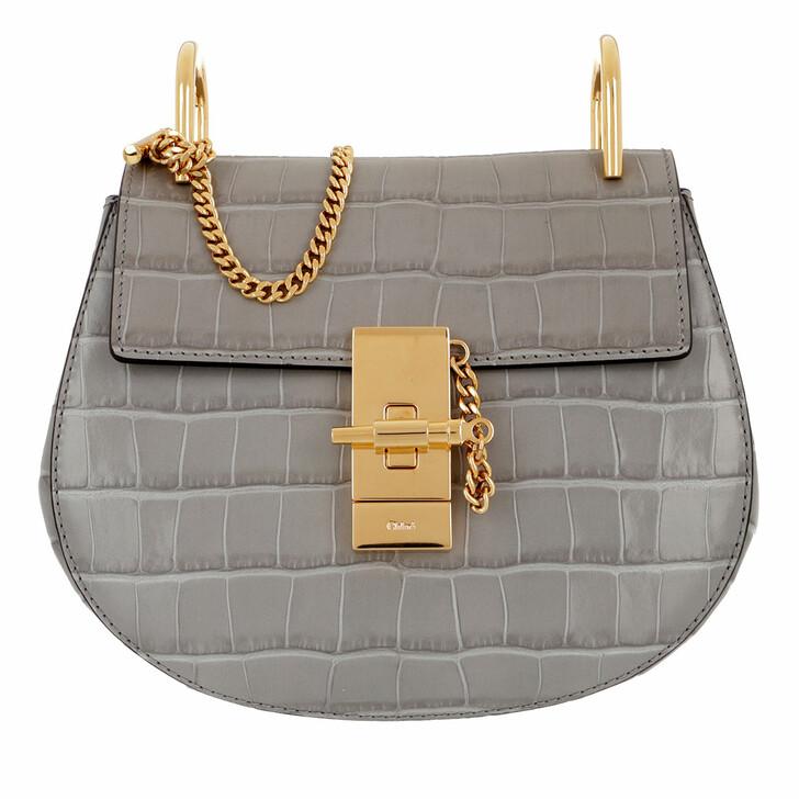 Handtasche, Chloé, Drew Crossbody Bag Leather Stormy Grey