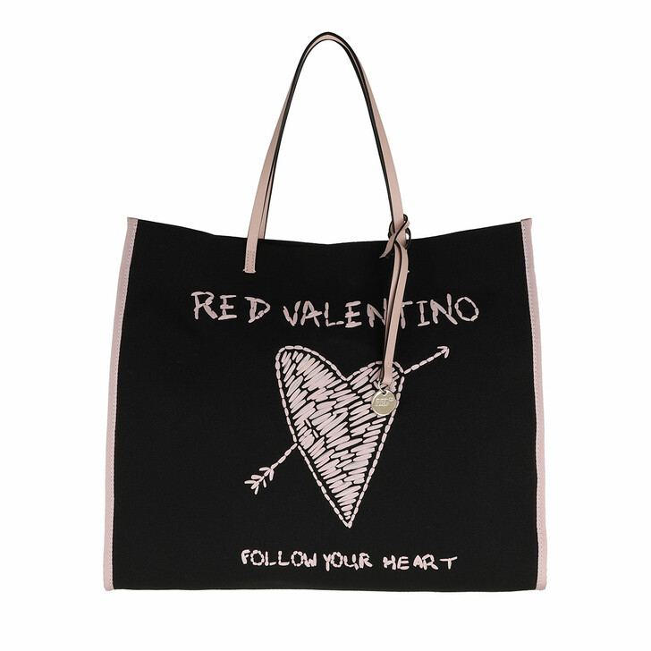 Handtasche, Red Valentino, Tote Black/Nude