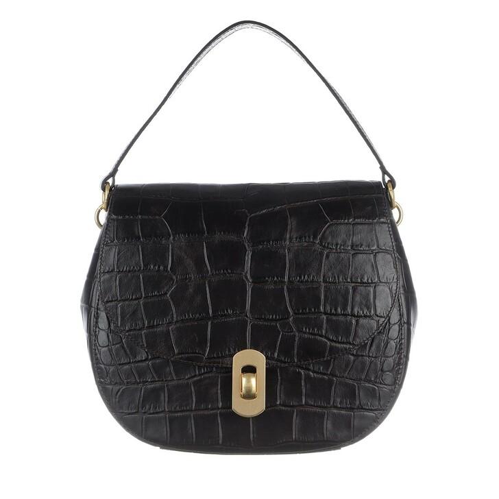 Handtasche, Coccinelle, Zaniah Maxi Crossbody Leather Noir