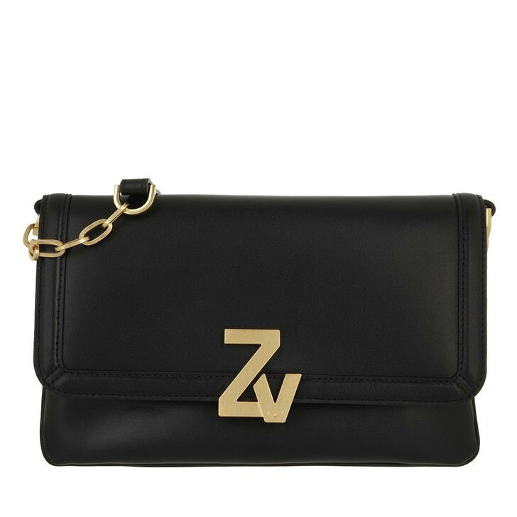 bags, Zadig & Voltaire, Intiale La Clutch Calfskin Black