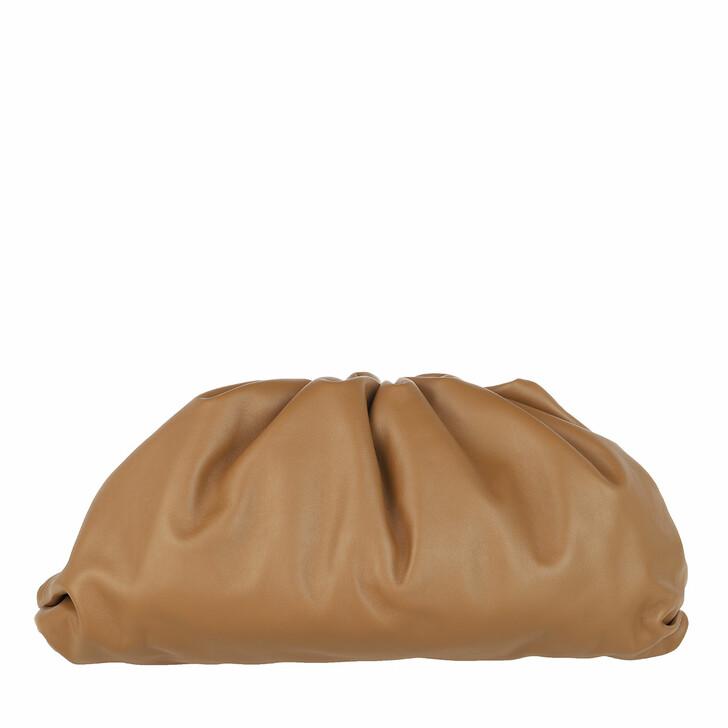 Handtasche, Bottega Veneta, Pouch Bag Leather Camel