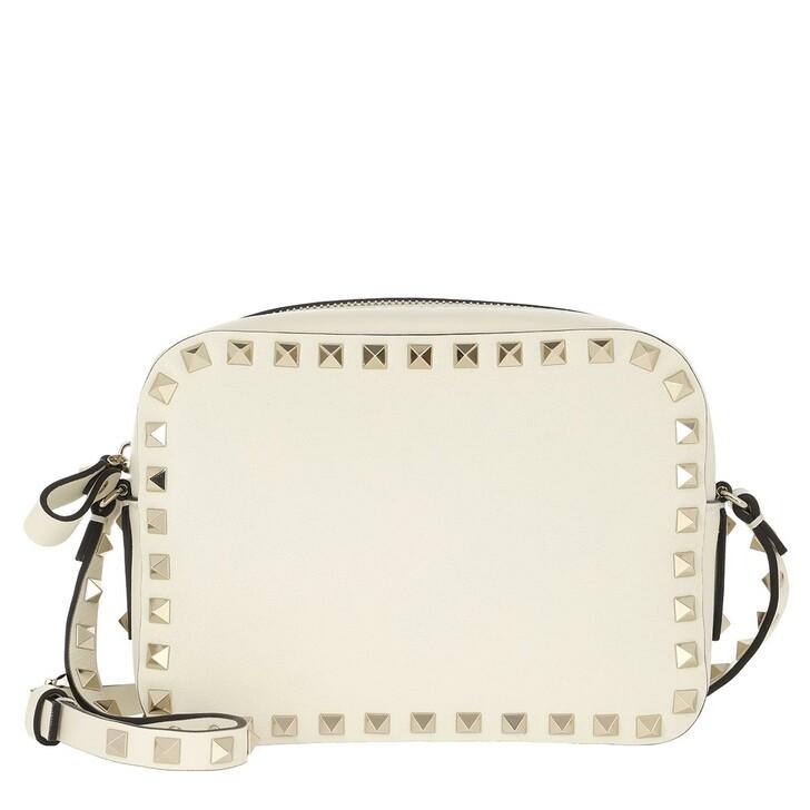 Handtasche, Valentino Garavani, Rockstud Camera Crossbody Bag Ivory