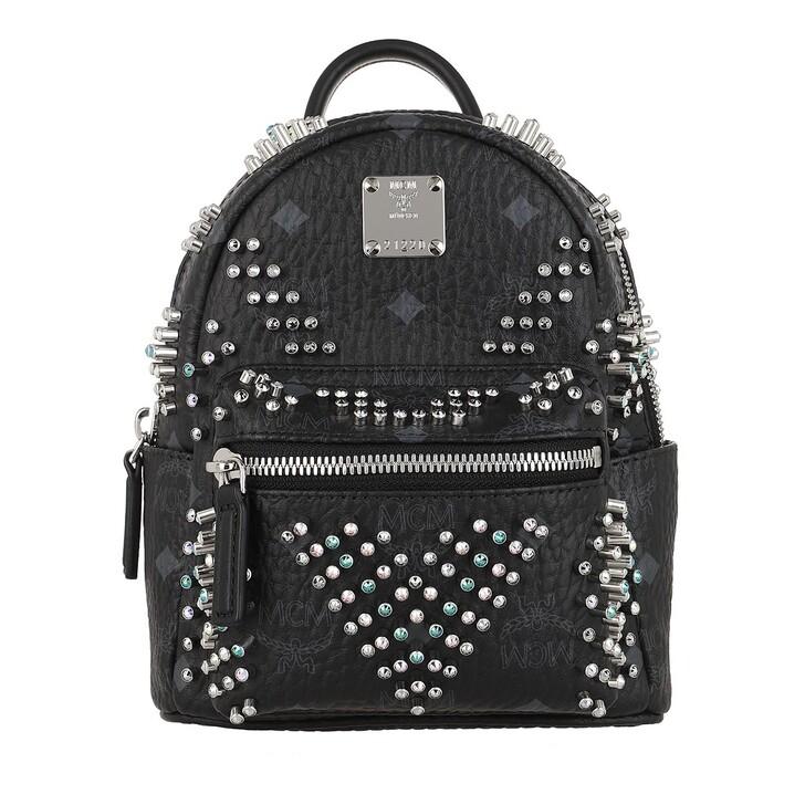 Reisetasche, MCM, Stark Studs Backpack Black