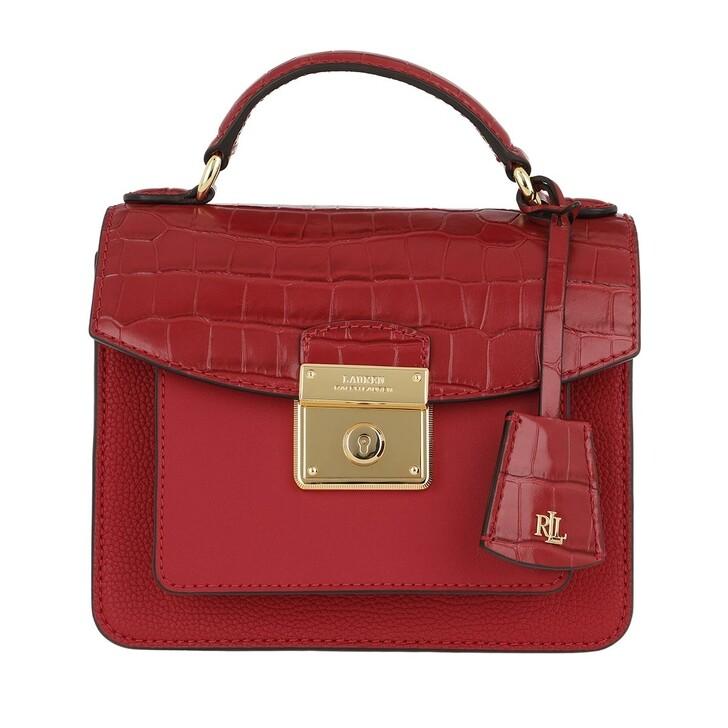 Handtasche, Lauren Ralph Lauren, Beckett 19 Satchel Bag Small Red