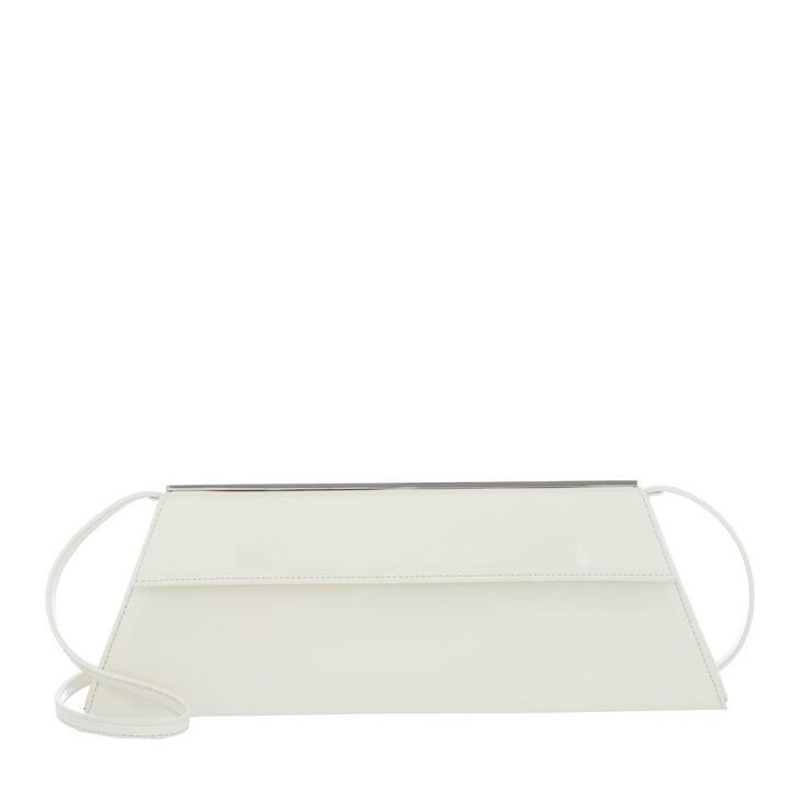 Handtasche, Giuseppe Zanotti, Vernice Clutch White