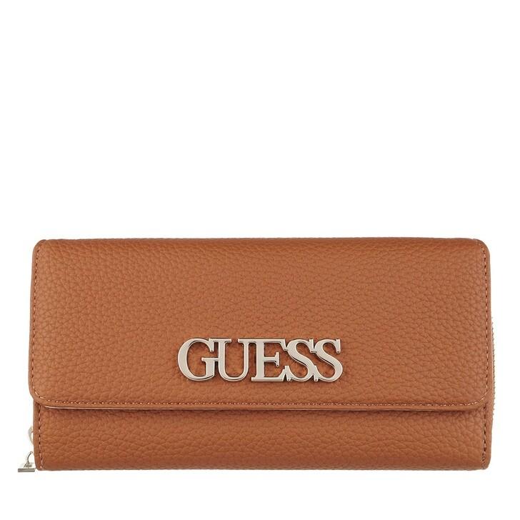 Handtasche, Guess, Uptown Chic Large Clutch Cognac