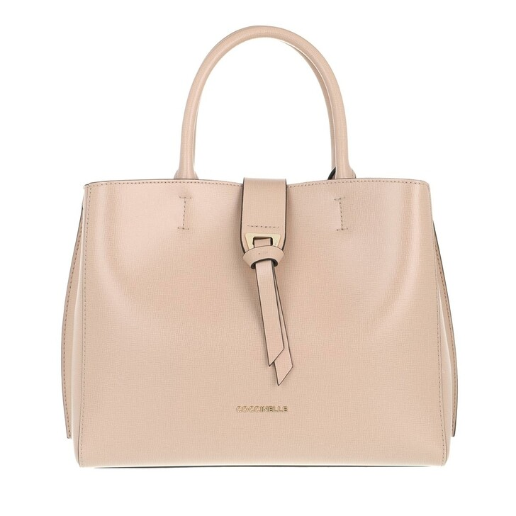 Handtasche, Coccinelle, Alba Textured Satchel Bag Powder Pink