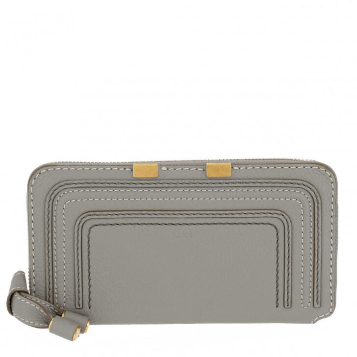 Geldbörse, Chloé, Zip Wallet Leather Cashmere Grey