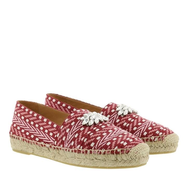 Schuh, Miu Miu, Rhinestone Embellished Espadrilles Rubino Rosa