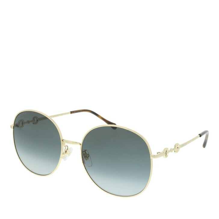 Sonnenbrille, Gucci, GG0881SA-001 59 Sunglass WOMAN METAL GOLD