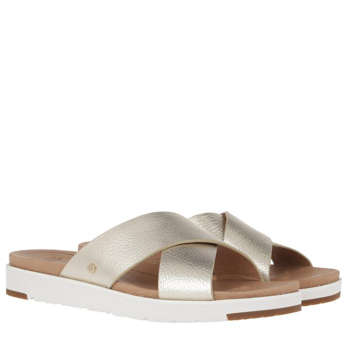 Schuh, UGG, Kari Metallic Slipper Gold
