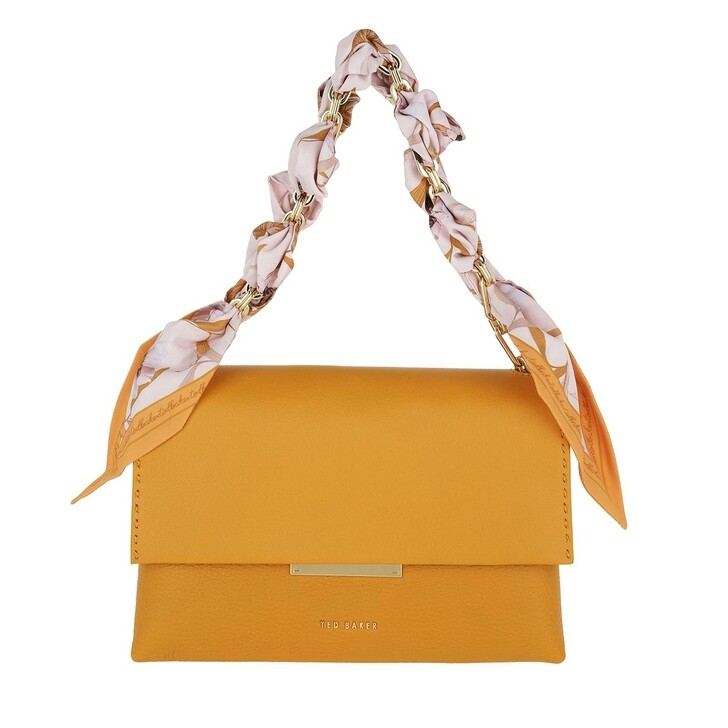 Handtasche, Ted Baker, Elsy Scarf Chain Bar Detail Crossbody Yellow