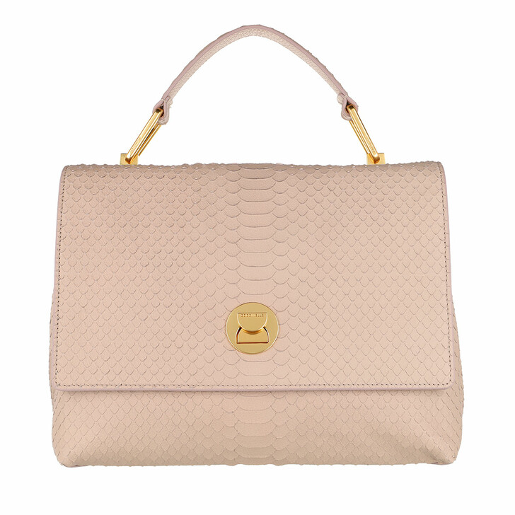 Handtasche, Coccinelle, Liya Python Lulula Satchel Powder Pink