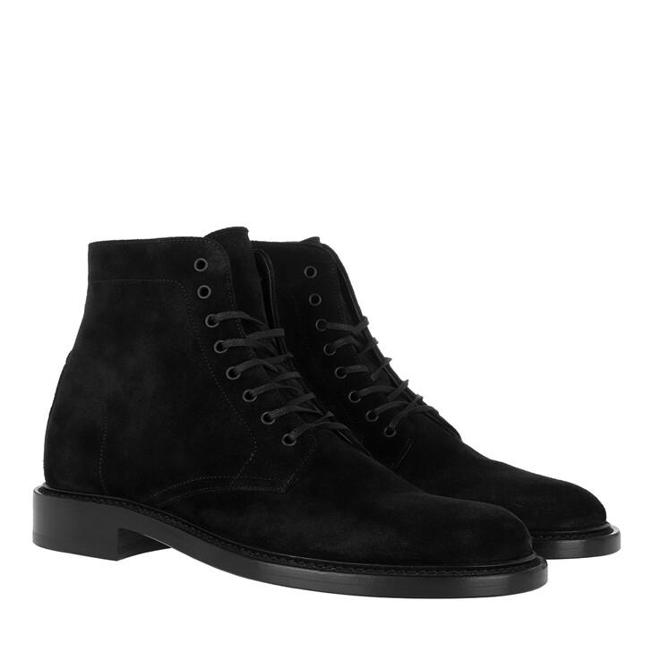 Schuh, Saint Laurent, Ankle Lace-Up Boots Black