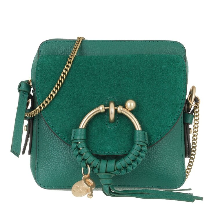 bags, See By Chloé, Joan Camera Bag Leather Woodsy Green