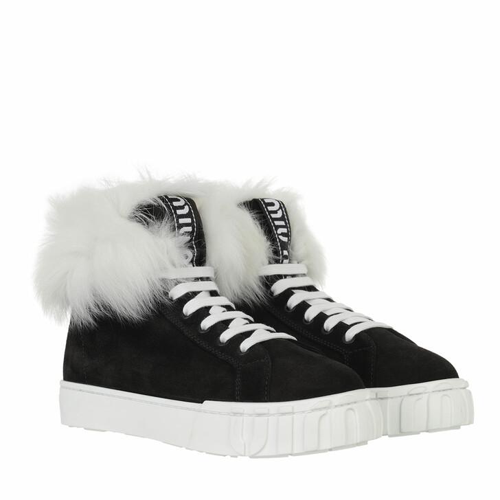 shoes, Miu Miu, High Top Sneaker Black/Natural