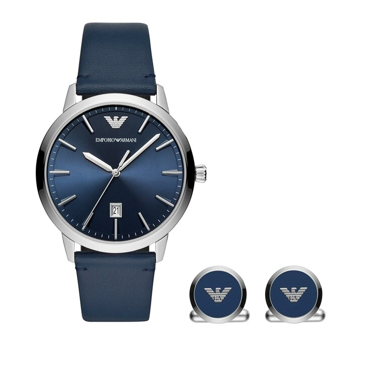 Uhr, Emporio Armani, Watch Set Dress AR80032 Silver