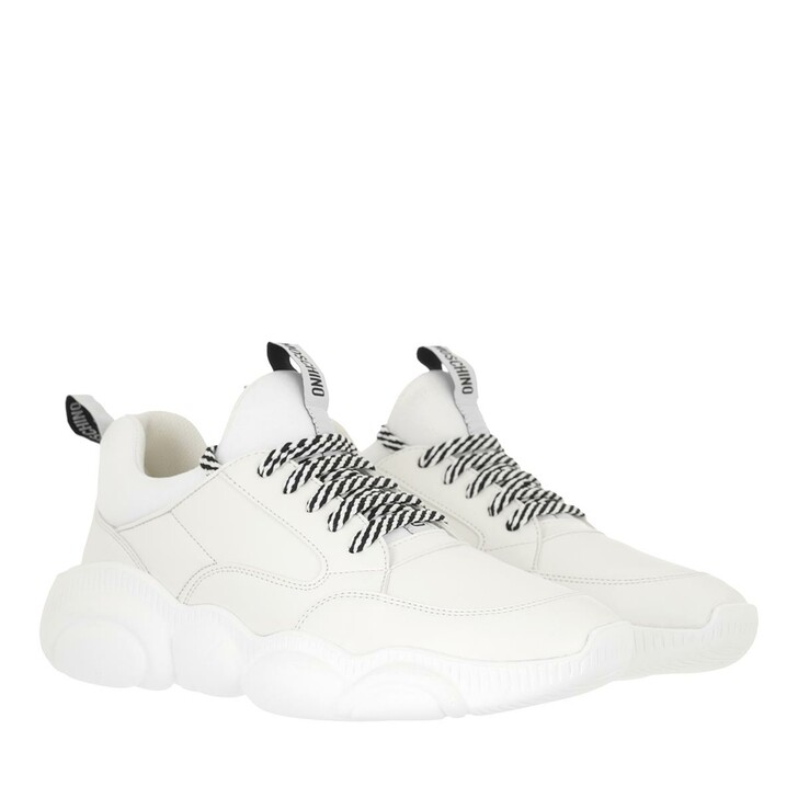 shoes, Moschino, Sneakerd Orso30 Pulycra  Bianco