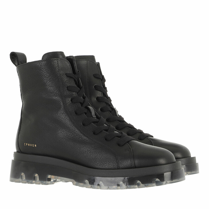 shoes, Copenhagen, CPH1002 Boot Calf Leather Black/Clear