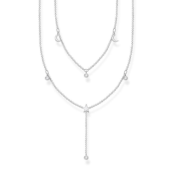 Kette, Thomas Sabo, Necklace White Stones Pearl White