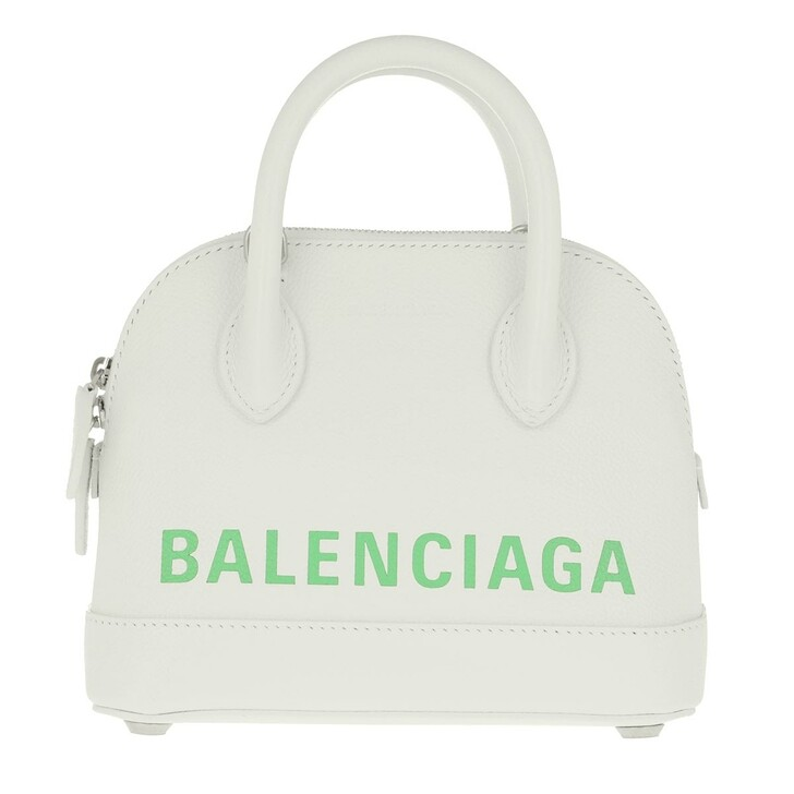 Handtasche, Balenciaga, XXS Ville Crossbody Bag White/Green