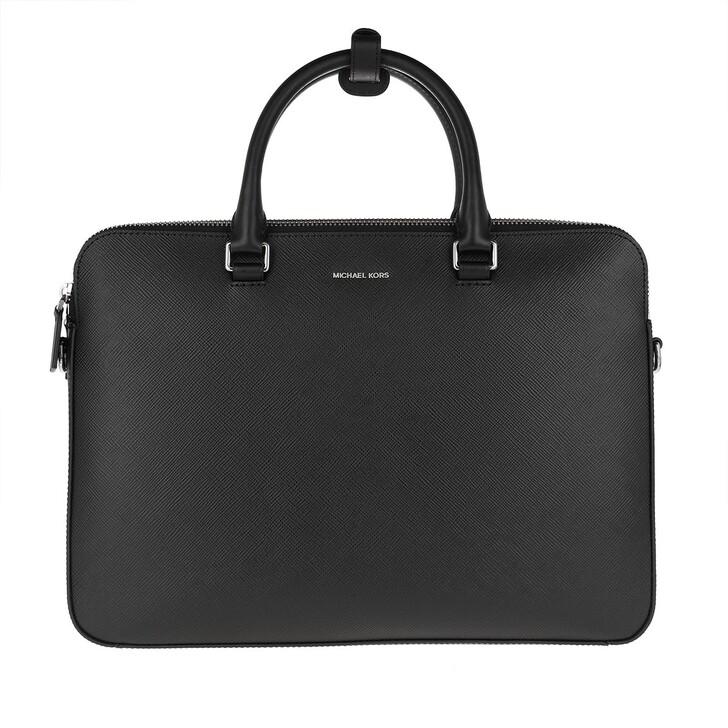 bags, MICHAEL Michael Kors, Slim Double Zip  Black