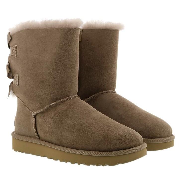 shoes, UGG, W Bailey Bow Ii Caribou