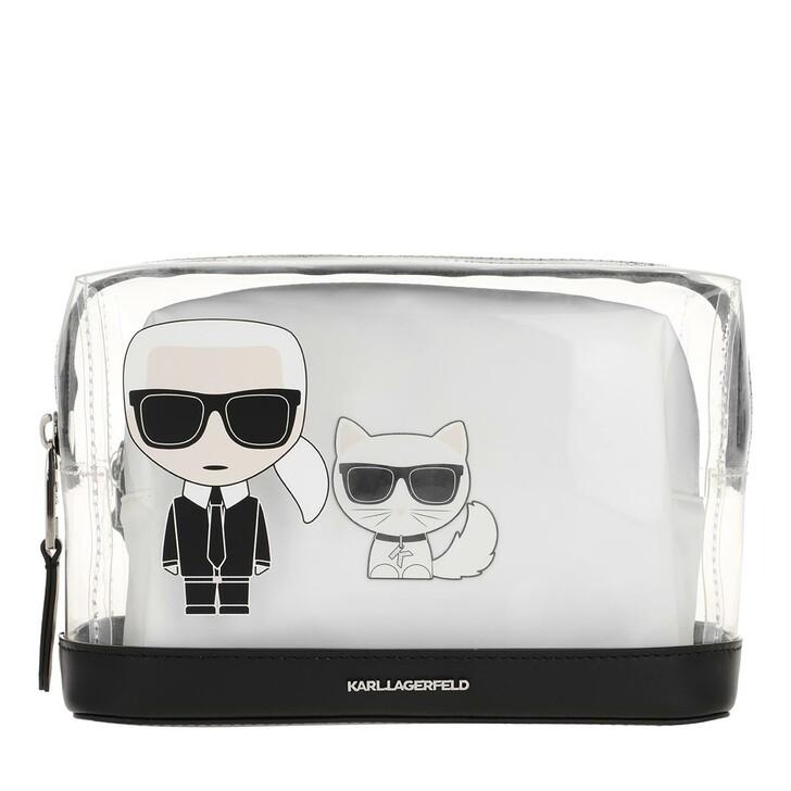 Handtasche, Karl Lagerfeld, Ikonik Pouch White