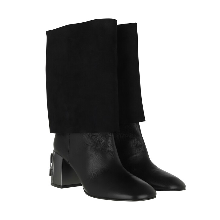 shoes, Casadei, Stivale Tang Boots Black