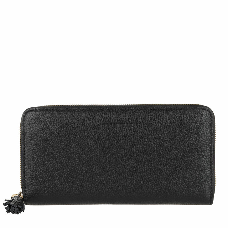 Geldbörse, Coccinelle, Wallet Bottalatino Leather Noir