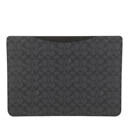 coach -  Smartphone Cases - 16 Inch Laptop Sleeve In Signature - in grau - für Damen
