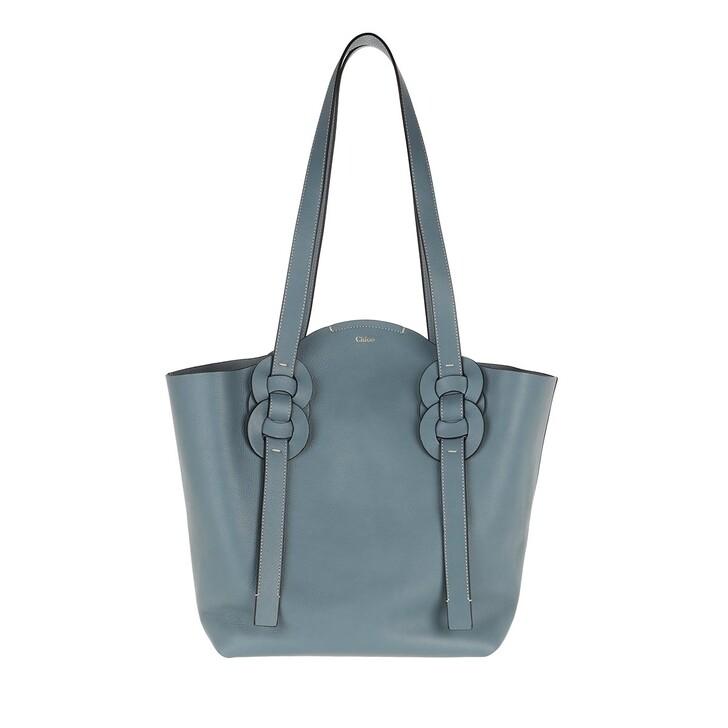 bags, Chloé, Medium Darryl Shopper Calfskin Mirage Blue