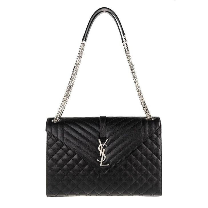 Handtasche, Saint Laurent, Large Monogram Matelasse Quilted Crossbody Bag Black