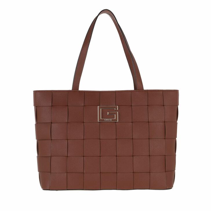 bags, Guess, Liberty City Tote Cognac