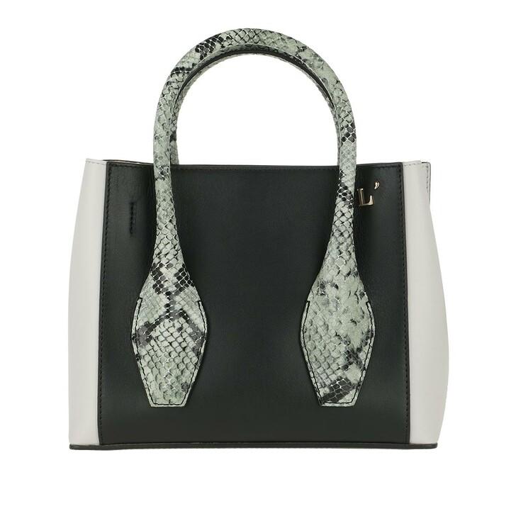 Handtasche, L´Autre Chose, Mini Tote Bag Off White/Black/Sage Green