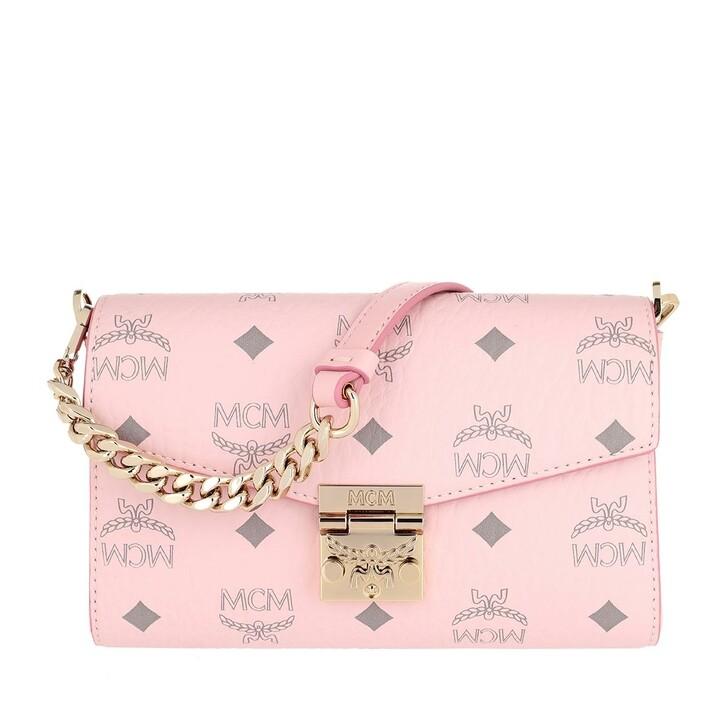 Handtasche, MCM, Small Millie Visetos Crossbody Bag Powder Pink