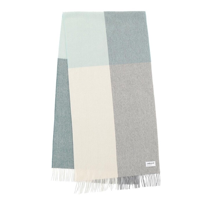 scarves, Embraced Studios, Wool-Cashmere Check Scarf Multi