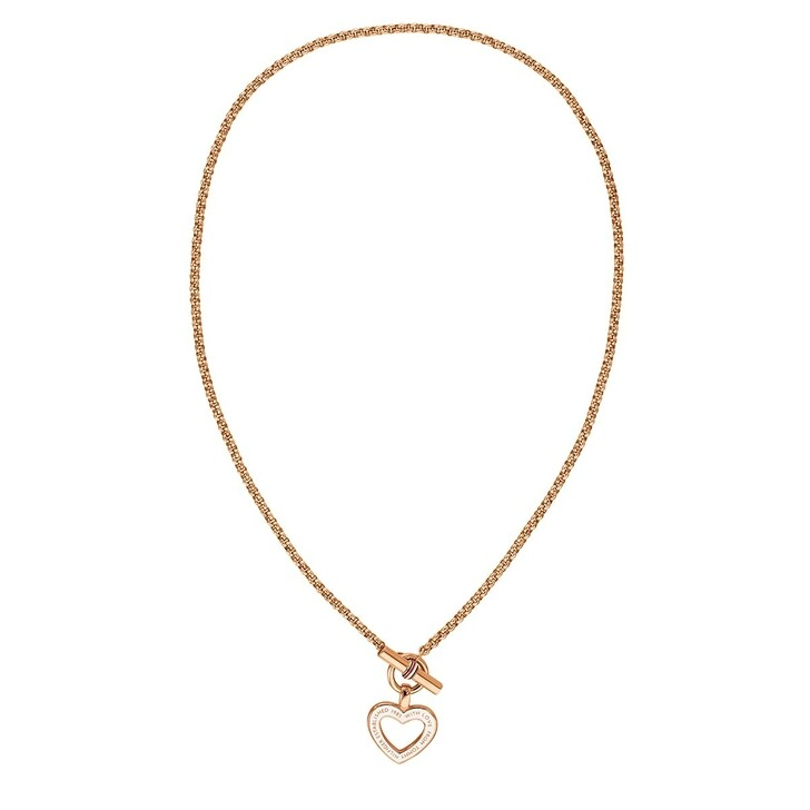 necklaces, Tommy Hilfiger, Classic Signature Necklace Rosegold