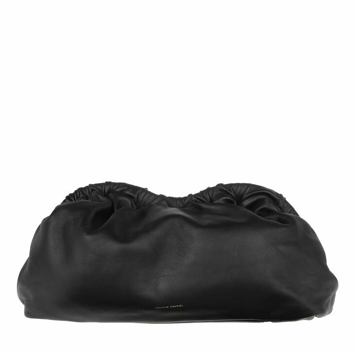 bags, Mansur Gavriel, Cloud Clutch Leather Black