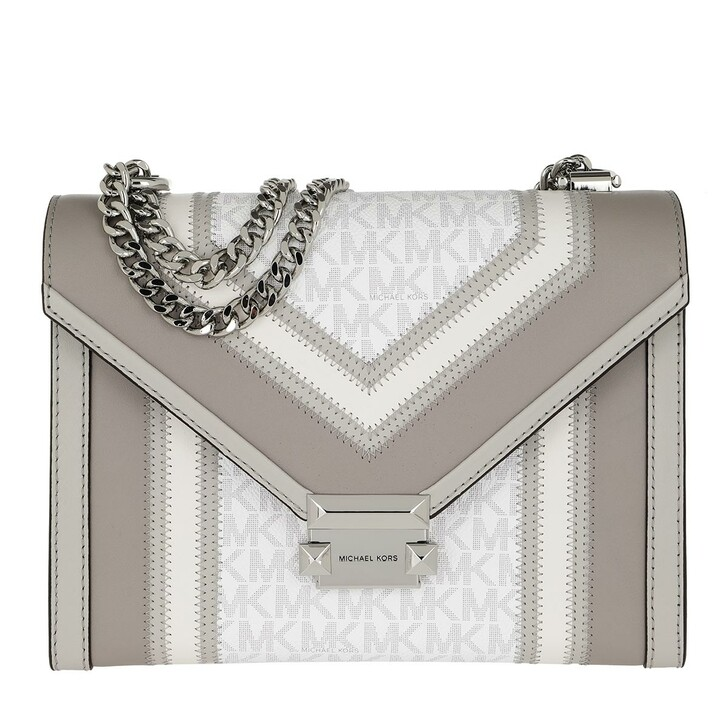bags, MICHAEL Michael Kors, Whitney LG Shoulder Bag Bright White Multi