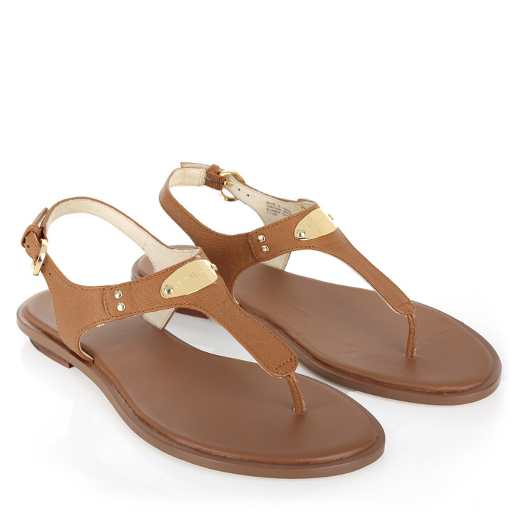 Schuh, MICHAEL Michael Kors, MK Plate Thong Leather Luggage