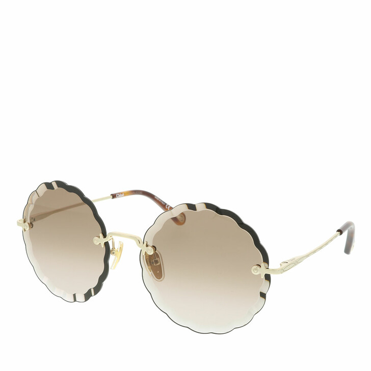 Sonnenbrille, Chloé, Sunglass WOMAN METAL GOLD-GOLD-BROWN