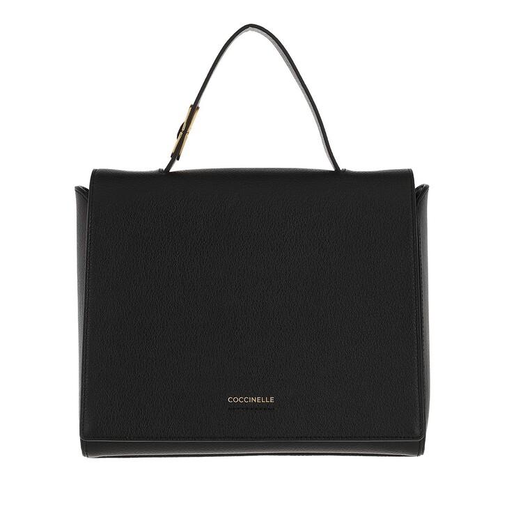 bags, Coccinelle, Josephine Handbag Grained Leather / Noir Noir