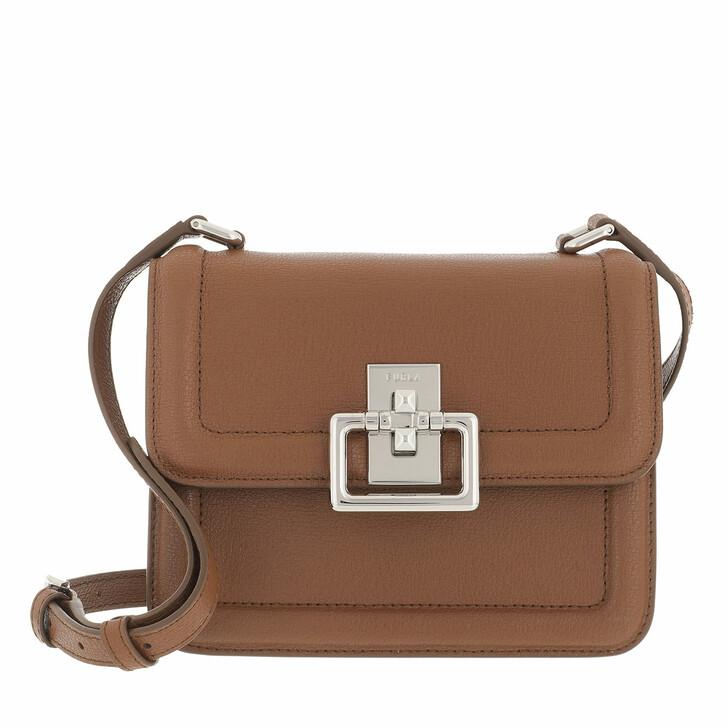 bags, Furla, Furla Villa Mini Crossbody Cognac H