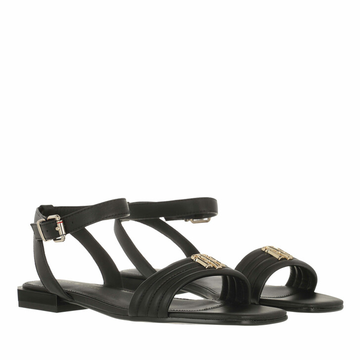 Schuh, Tommy Hilfiger, Tommy Padded Flat Sandals Black