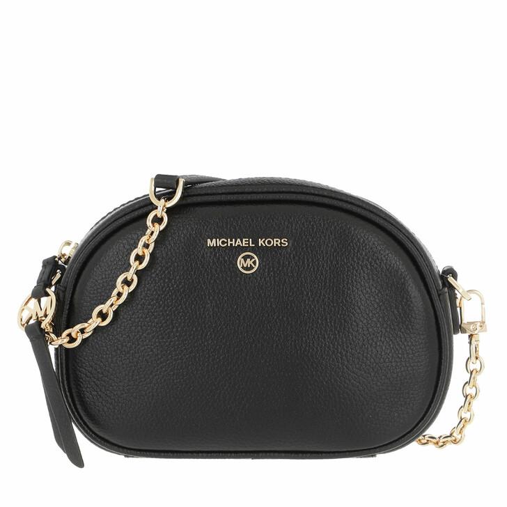 Handtasche, MICHAEL Michael Kors, Small Oval Camera  Handbag  Leather Black
