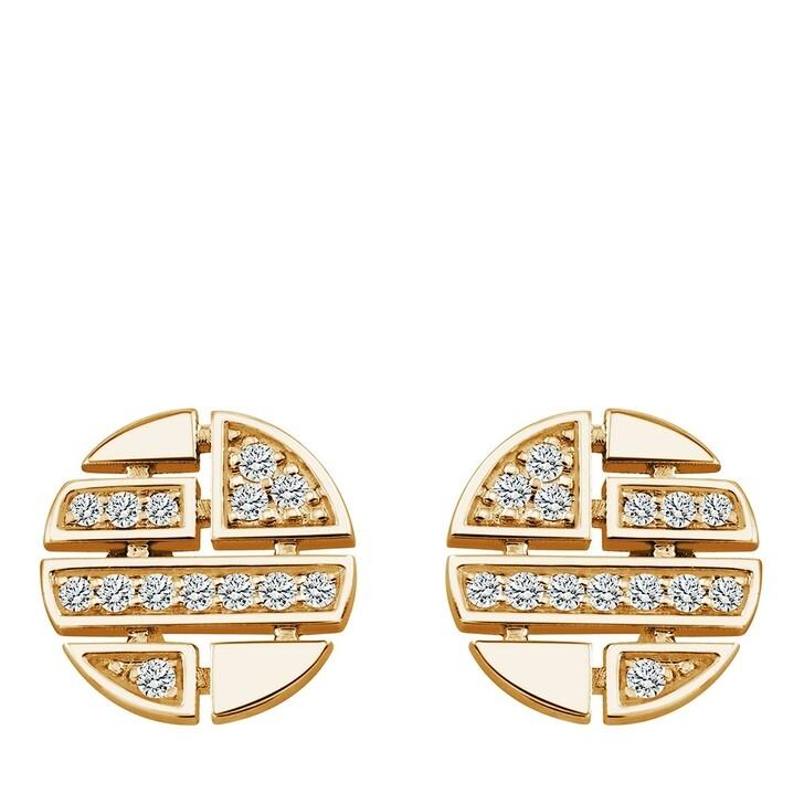 earrings, Pukka Berlin, Round Diamond Studs Yellow Gold